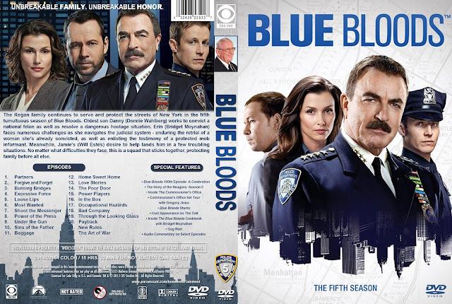 Capa DVD Blue Bloods Quinta Temporada Completa