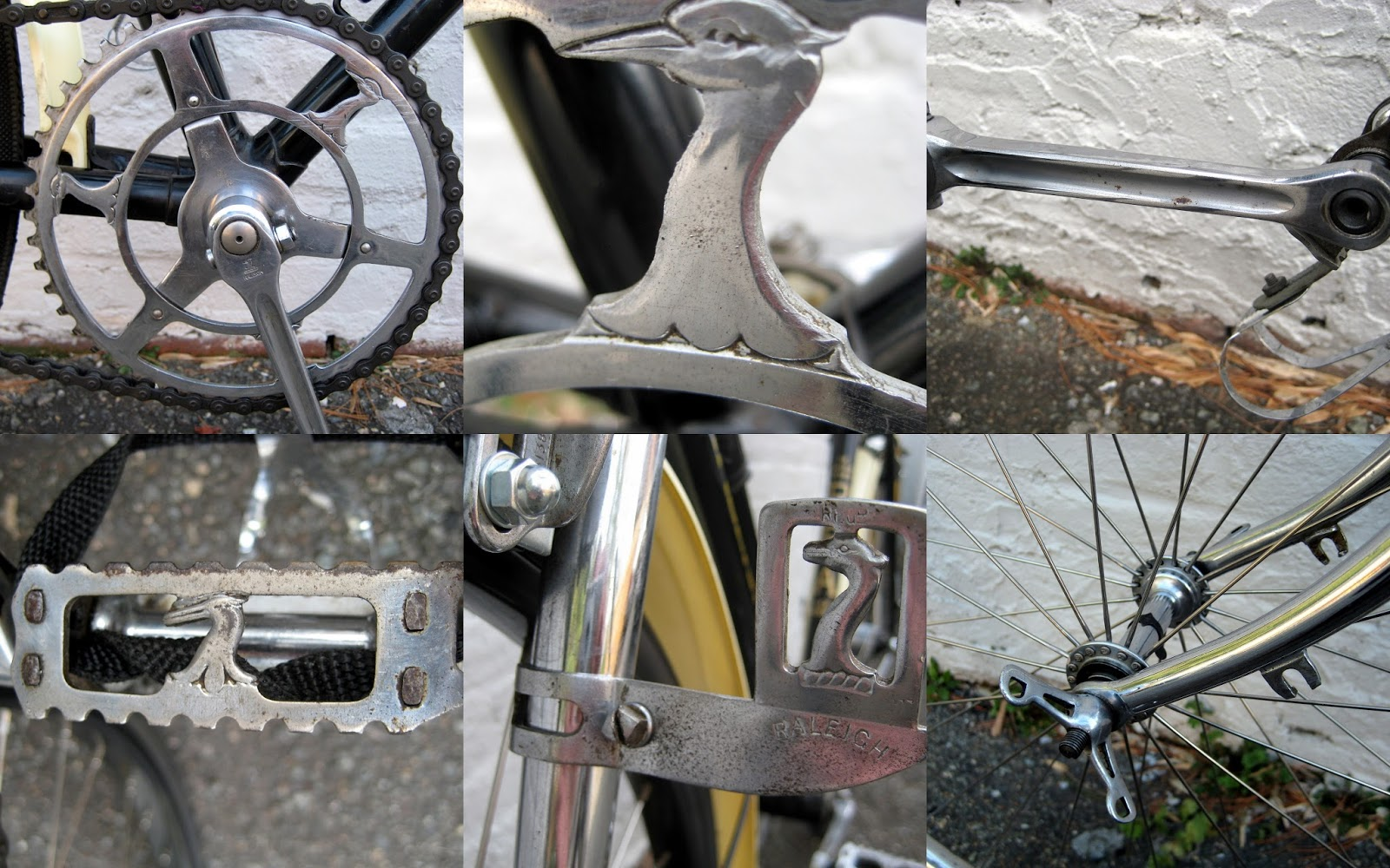 4  Vintage 1960s-70s 80s Bicycle mudguard alloy wingnuts  suit Bluemels stays