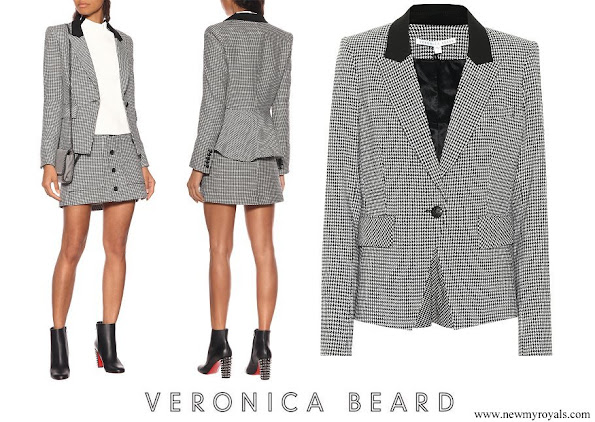 Princess Eugenie wore VERONICA BEARD Airlie Dickey cotton-blend blazer