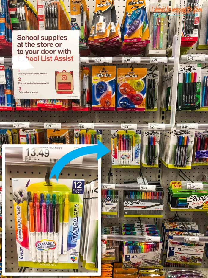 Target School Supplies