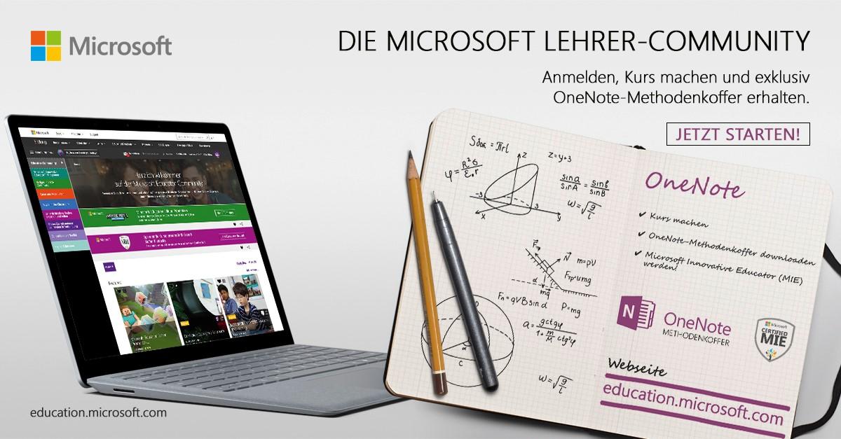 Die Microsoft Lehrer Community - Materialien für den digitalen ...
