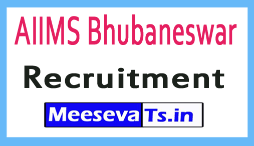 AIIMS Bhubaneswar Recruitment Notification