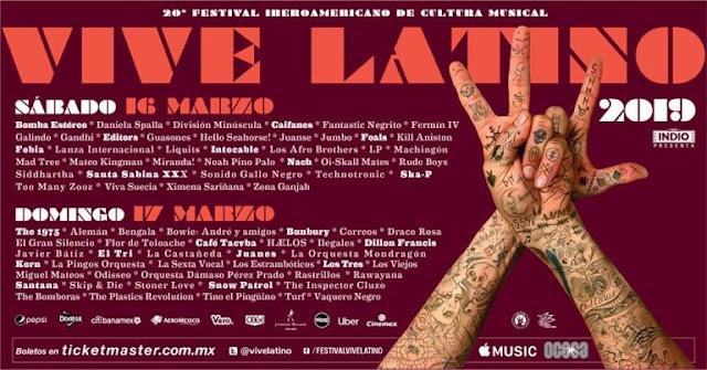 artistas vive latino 2019