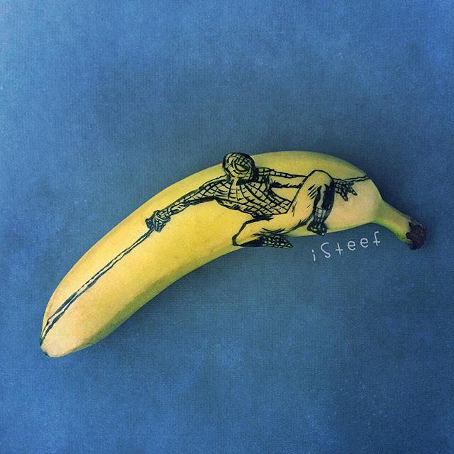 lukisan media pisang paling kreatif unik lucu dan menakjubkan-17