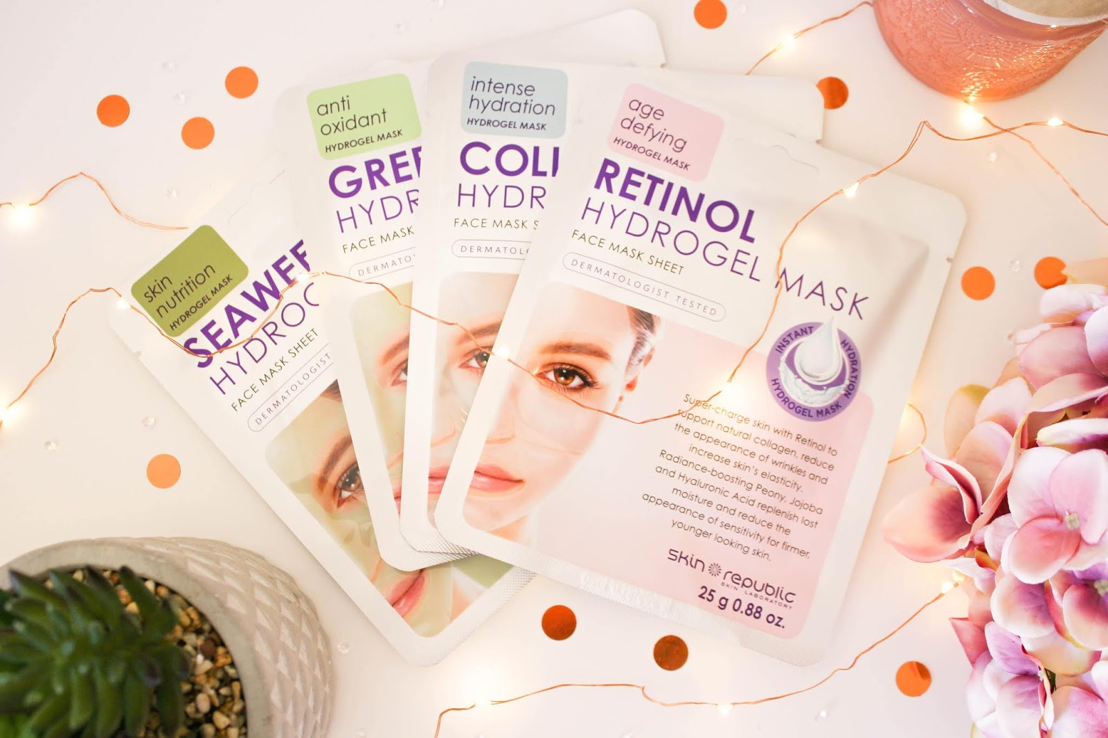 New Hydrogel Sheet Masks From Skin Republic