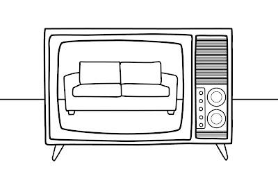 Sofá e TV