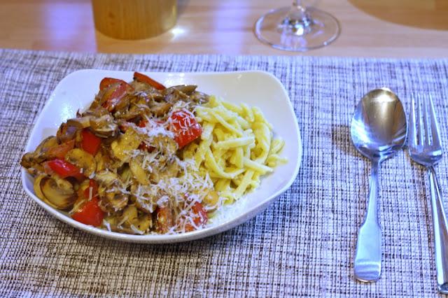 Blogger Fleur et Fatale zeigt schnelles Rezept für Pilzpfanne