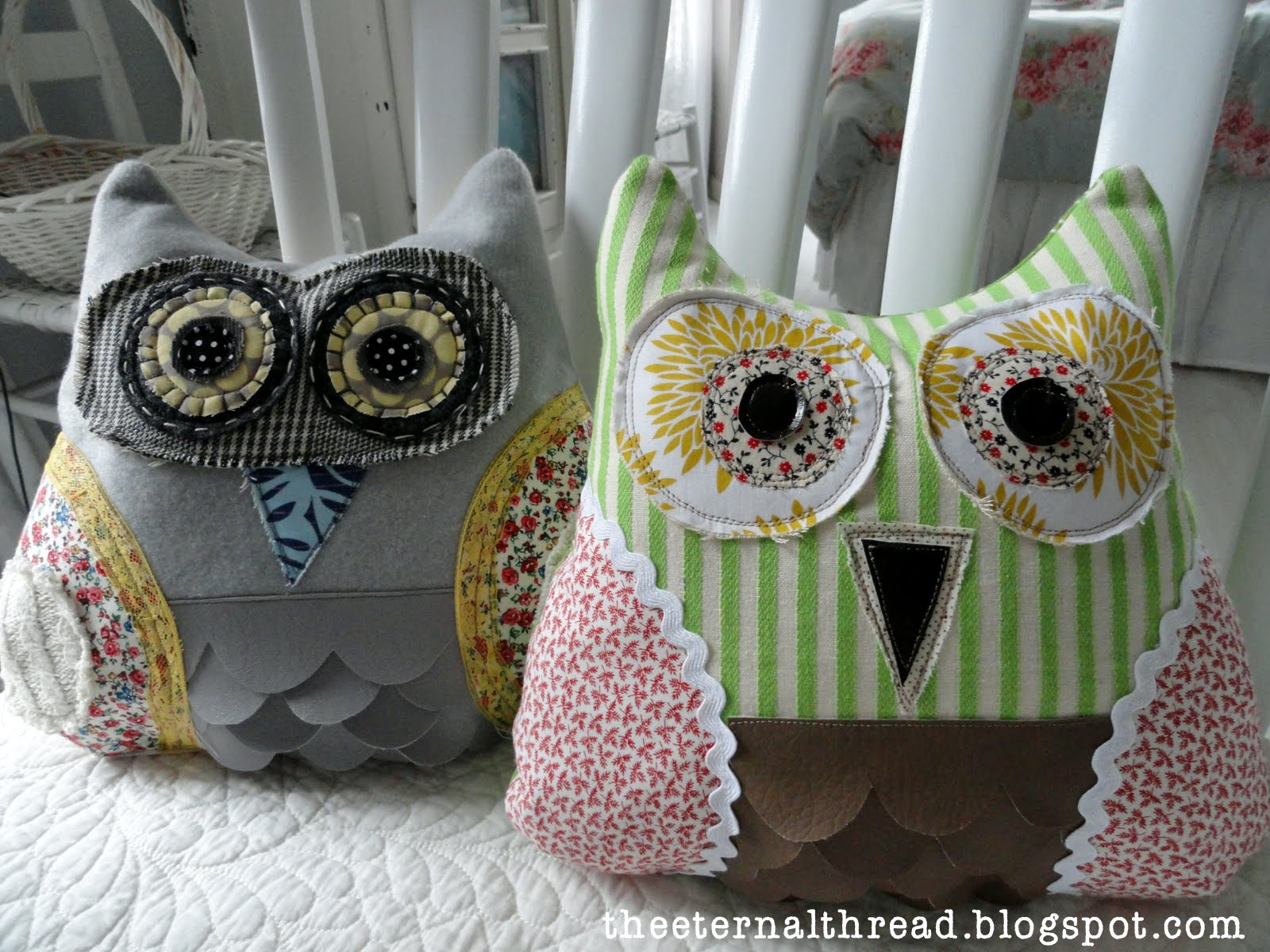 Fabulous fabric owl pillow free template and guide.