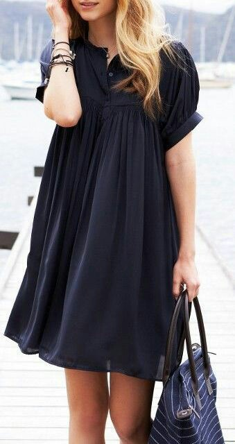 Black half sleeve dress