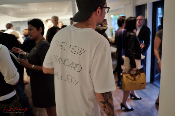 At the grand opening of The New Standard Gallery. Photo by Kent Johnson for Street Fashion Sydney.