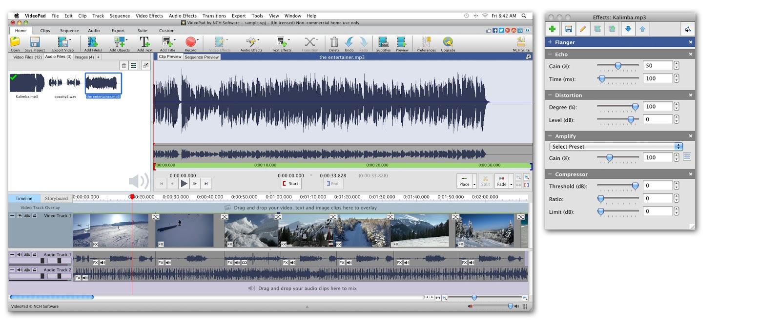 mac add audio to video