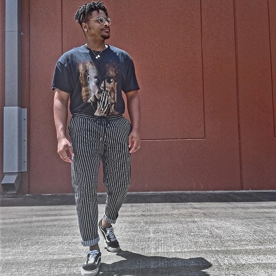 look masculino calça listras vertical para réveillon 2019