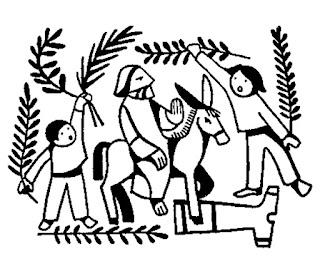Dibujos para colorear entrada de Jesú en Jerusalén