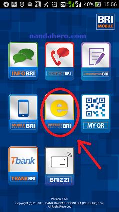 tampilan internet banking bri