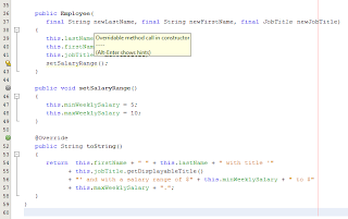 Java/NetBeans: Overridable Method Call in Constructor