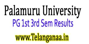 Palamuru University PG Exam Results 2019