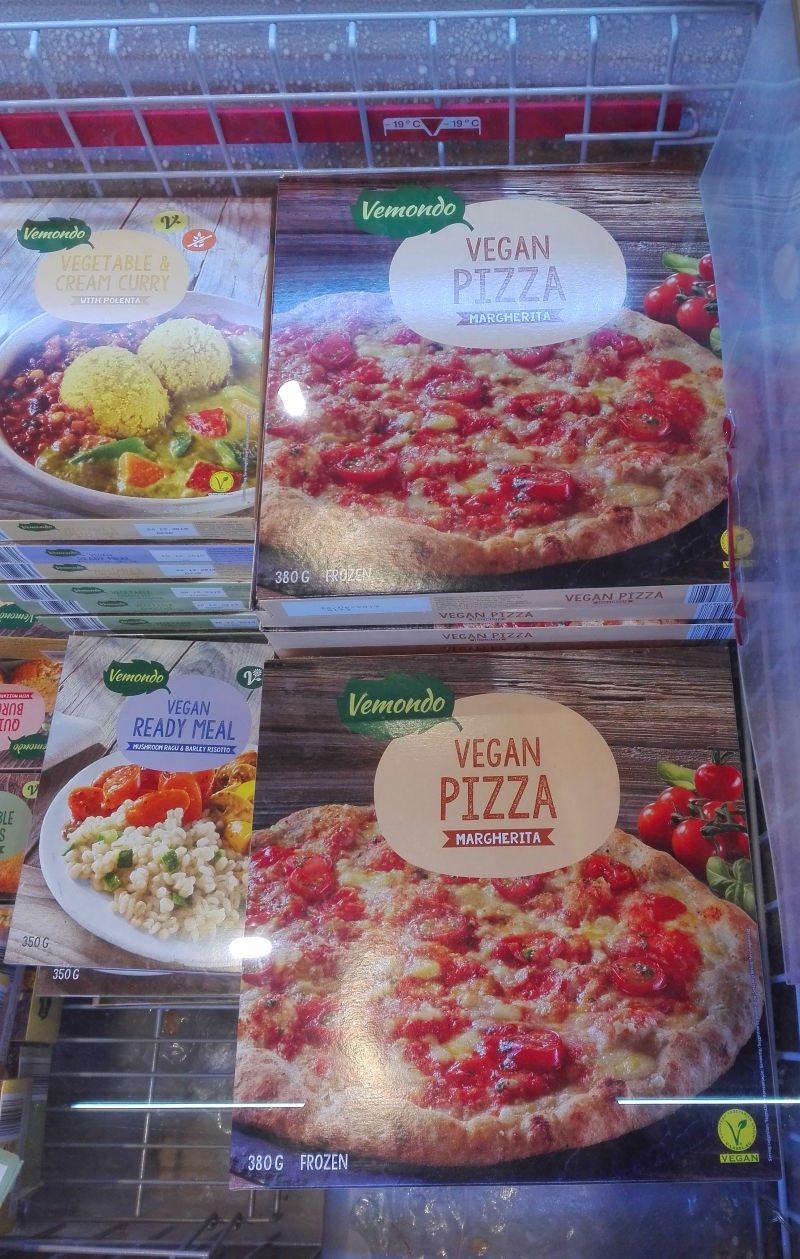Caixa da pizza vegan Margherita
