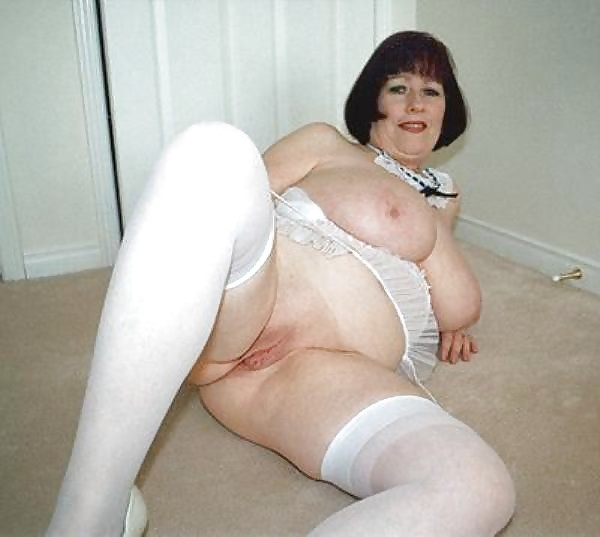 Bbw Granny Big Boobs Nylon Stockings