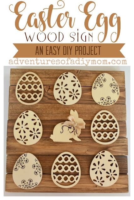 Easter Egg Wood Sign