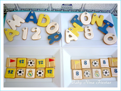 Galletas decoradas Real Madrid