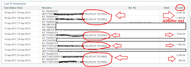 Halaplay Bank Redeem Proof