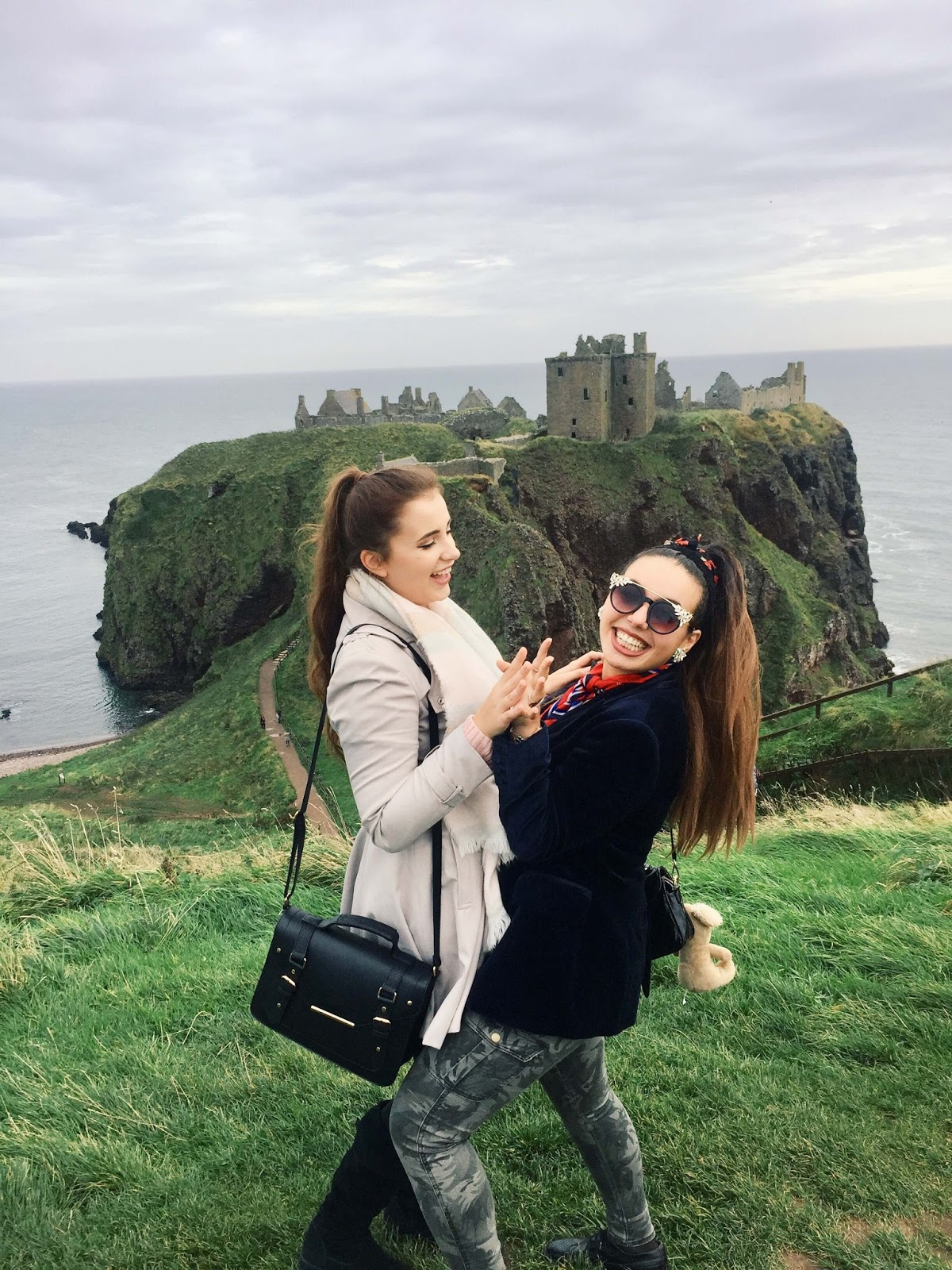 Girls at Dunnottar Castle