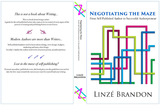 Linzé Brandon, Negotiating the Maze, non-fiction book about a writer's life, book cover graphic