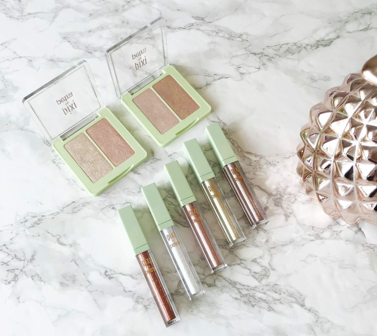 Pixi Glowy-Glossamer Duo Review & Swatches, Pixi Liquid Fairy Lights Review & Swatches