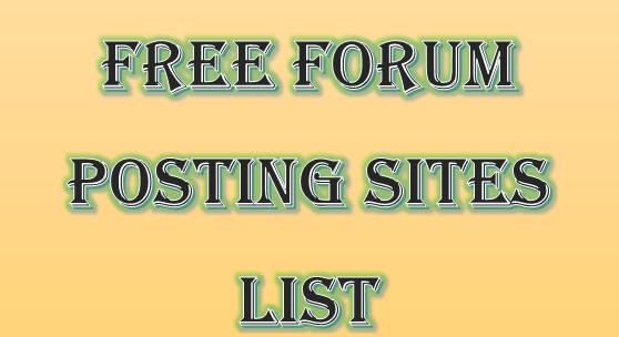 free posting forum