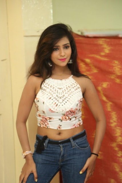 Deekshita Parvathi in a short crop top and Denim Jeans Spicy Pics Beautiful Actress Deekshita Parvathi January 2017 CelebxNext (23).JPG