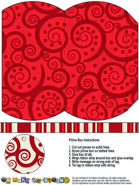 Cajas Almohada con Espirales para Imprimir Gratis.