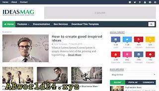 IdeasMag Premium Blogger Template Free Download