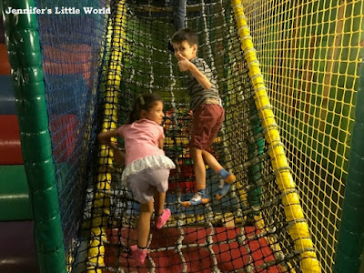 Children at soft play party