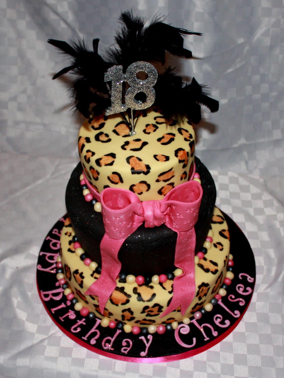 Xtra Special Cakes 18th Birthday Leopard Skin Cake