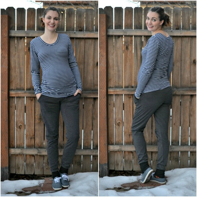 Me Made: Striped Cara Maternity Tee