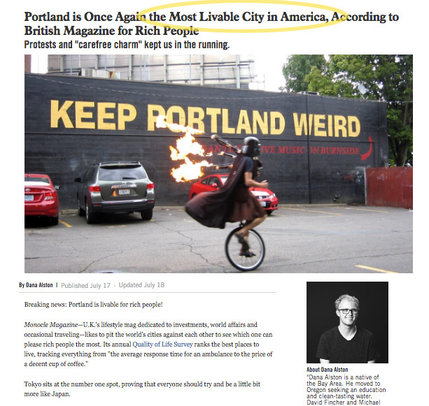 http://www.wweek.com/culture/2017/07/17/portland-is-once-again-the-most-livable-city-in-america-according-to-british-magazine-for-rich-people/