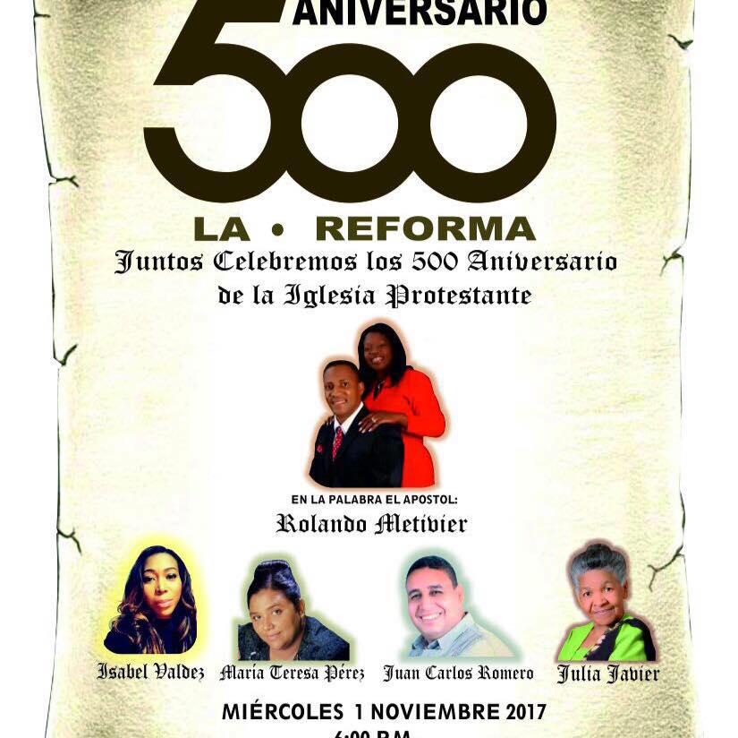Cristianos celebrarán los 500 años de la reforma protestantes en Barahona