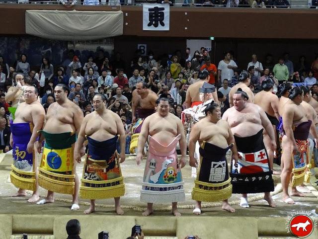 cérémonie des sumos lors du basho de Kyoto 2015