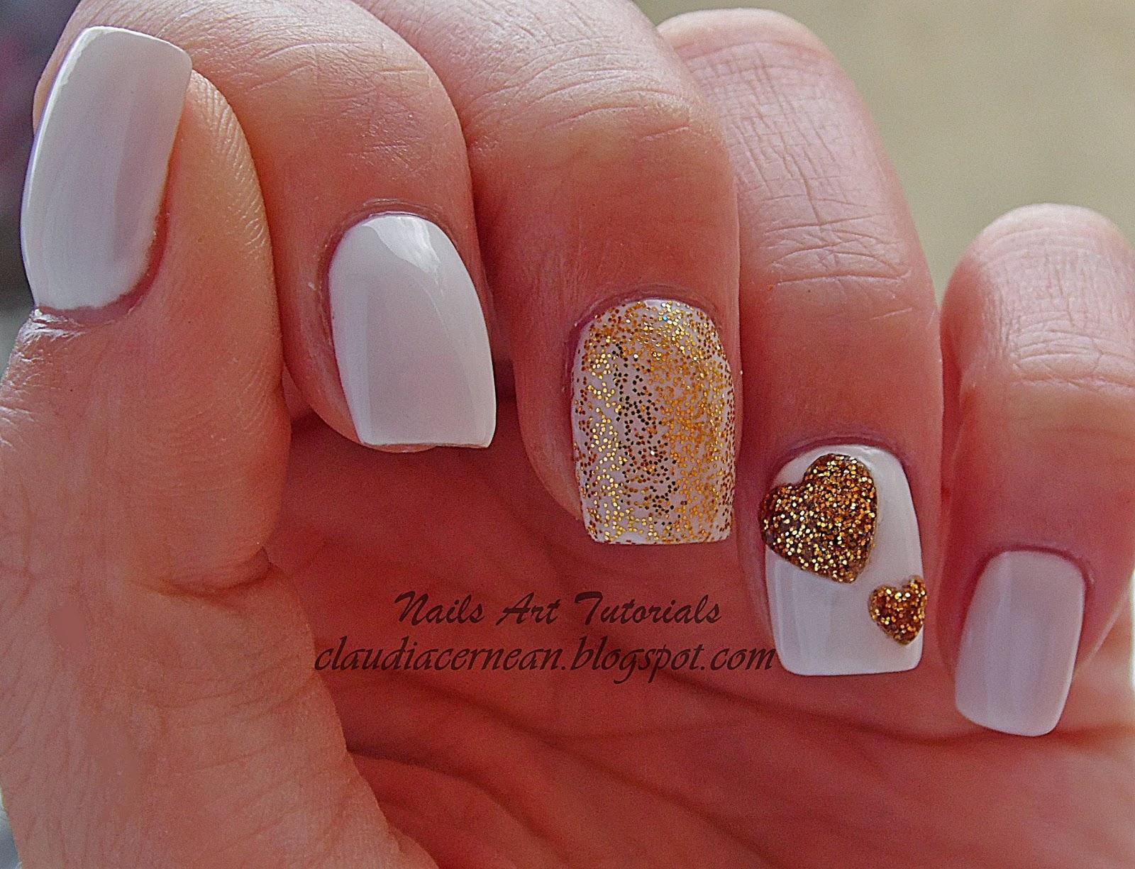 Nails Art Tutorials Unghii Cu Inimioara Acrilica Acrylic Heart Nails