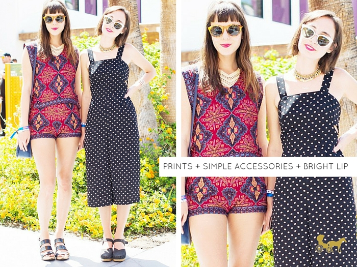 7f52aac82f Can we just take a moment to appreciate the prints, retro shades and bright  lippie combo here? Love the clogs/mary-janes too.