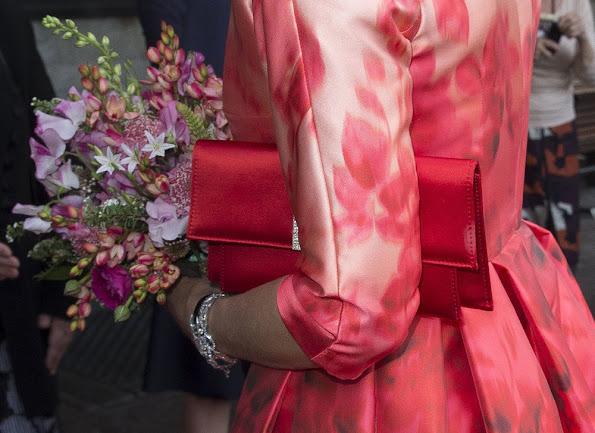 King Willem-Alexander and Queen Maxima attend opening Holland Festivalç Queen Maxima wore Natan Dress, Natan shoes, Valentino clutch bag