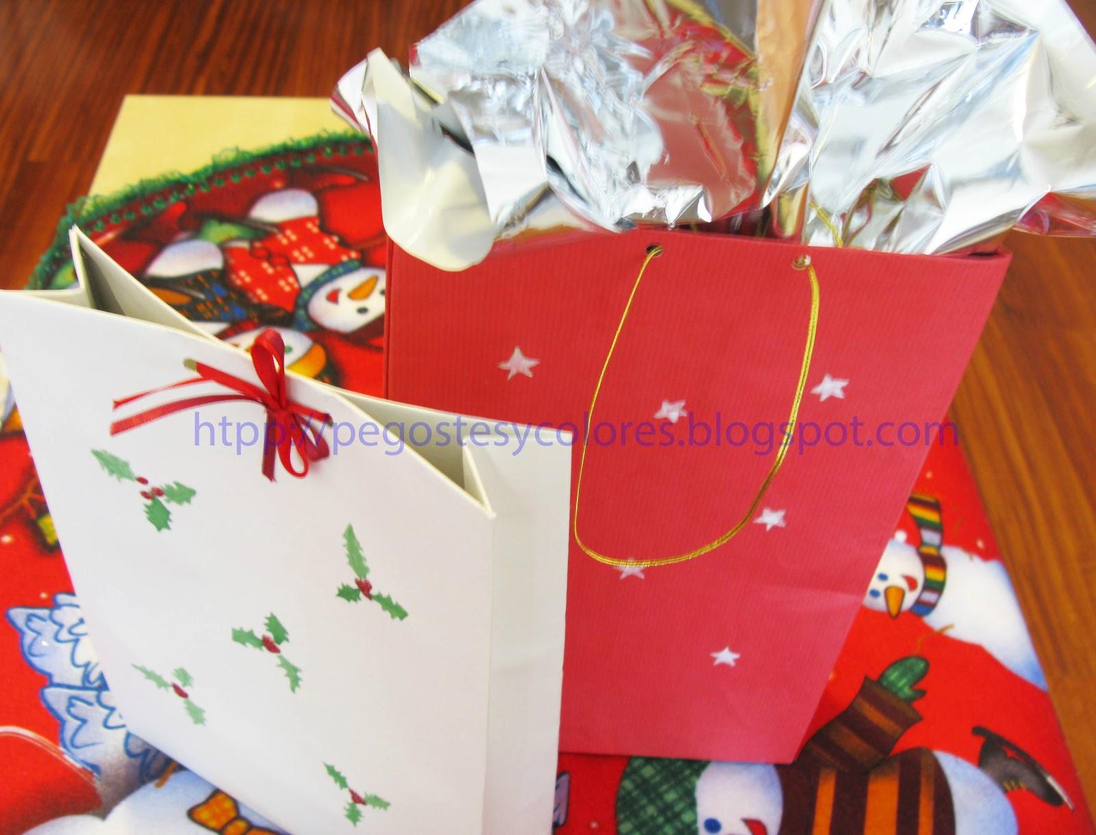 Pegostes y colores como hacer bolsas de regalo para navidad - Regalo padre navidad ...