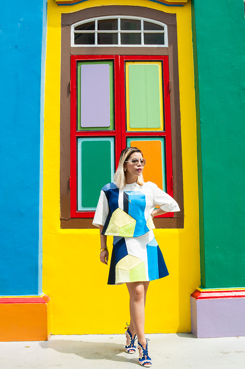 Crystal Phuong- Singapore Fashion Blog- Lie Color Block Outfit