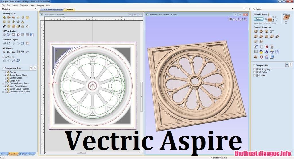 Download Vectric Aspire 9.514 Full Crack, Vectric Aspire ,Vectric Aspire free download, Vectric Aspire full key, phần mềm cắt và tạo các mô hình 3D chi tiết