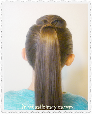 The perfect hair wrapped ponytail tutorial. No bobby pins.