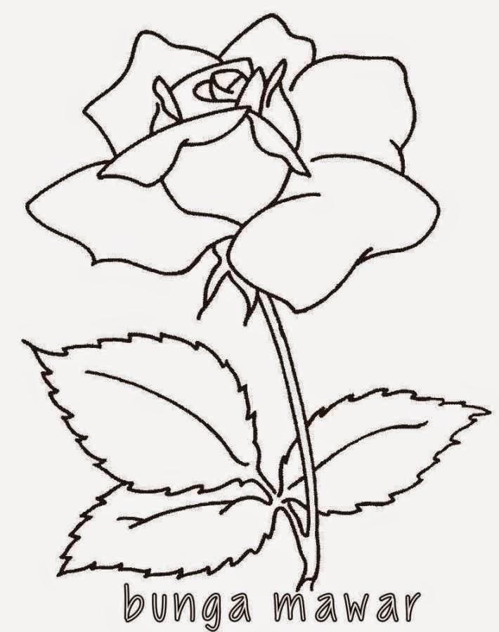 20 Ide Sketsa Gambar Bunga Mawar Hitam Putih Tea And Lead