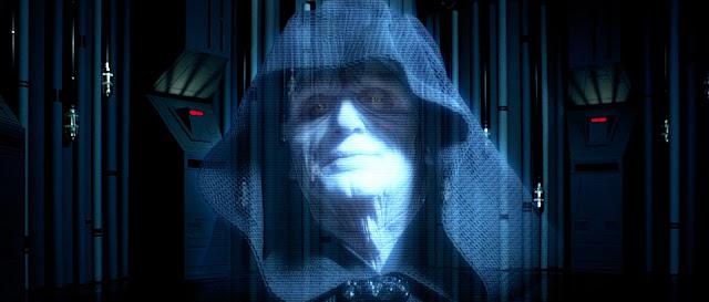 emperor palpatine hologram starwars