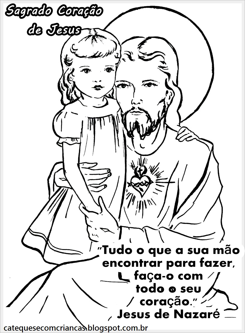 Catequese Com Criancas Sagrado Coracao De Jesus Desenho Para