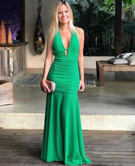 vestidos longos para madrinha de casamento decotados