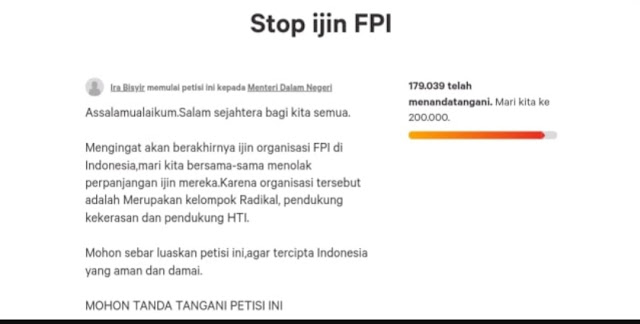 FPI Jateng soal Petisi Radikal: Kami Berbenah, Tak Ada Lagi Sweeping